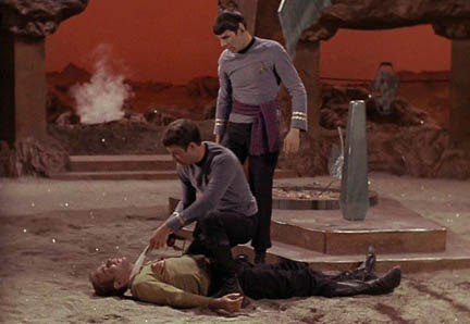"Hey Spock, he's got an ""aw wound."" Get it?"