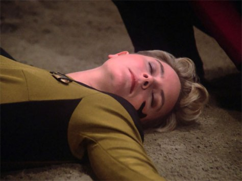 "With her dieing breath she bequeathed the role of ""make outlandish suggestions and get told you're wrong"" to Worf"