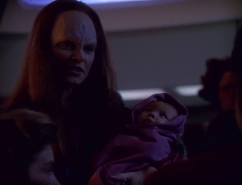 Chakotay: Captain, I need to head back into Kazon space... for my baby momma.