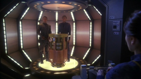 We stole the warp core like you asked. But we did NOT wear the eye patches you gave us.
