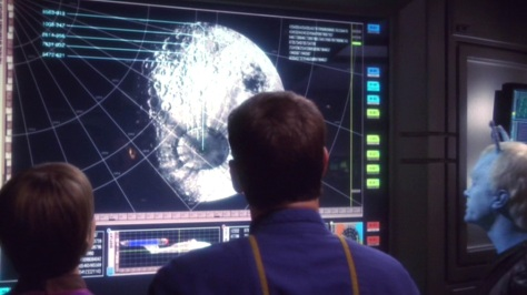Archer: That's no moon, that's a space station! T'Pol: That hasn't been funny the 33 other times we've scanned a moon... sir.