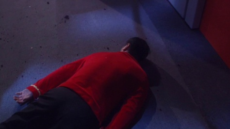Ladies and gentlemen... Enterprise's only official red shirt!